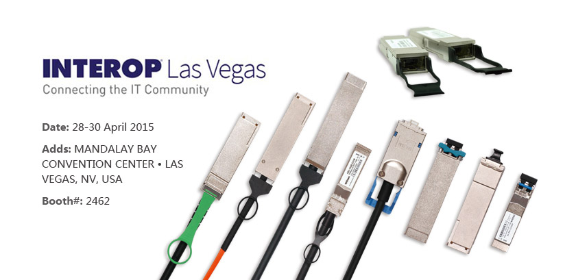 10Gtek will attend Interop 2015 on 28-30 April 2015 - SFPcables.com
