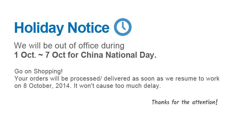 fiber optical store at China National Day Holiday Notice - 10Gtek