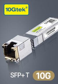 10GBase-T SFP+ Transceiver, 10G-T, RJ-45 SFP+ CAT.6a up to 30 meters