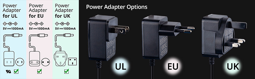 Power Adapter Options infomation