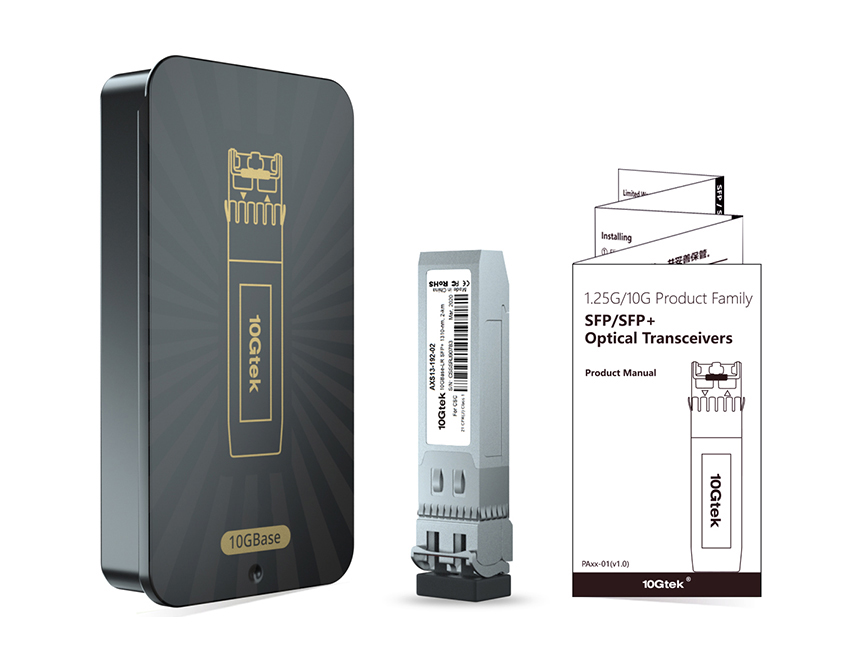 10G BIDI transceiver Packing box