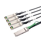 QSFP+ to 4 SFP+ Copper Breakout Cable, 3-Meter, Passive | QSFP-4SFP10G-CU3M