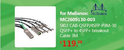 QSFP+ to 4 SFP+ Copper Breakout Cable 3M, Passive | QSFP-4SFP10G-CU3M