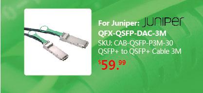 40GbE QSFP+ Copper Cable 3M, AWG 30, Passive, QDR | QSFP-H40G-CU3M