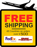 Free shipping on orders over $500.