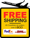 Free shipping on orders over $800.