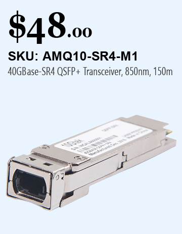 40G QSFP + SR4 Transceiver, 850nm,150M