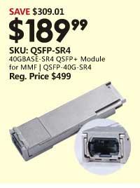 40GBASE-SR4 QSFP+ Module for MMF | QSFP-40G-SR4